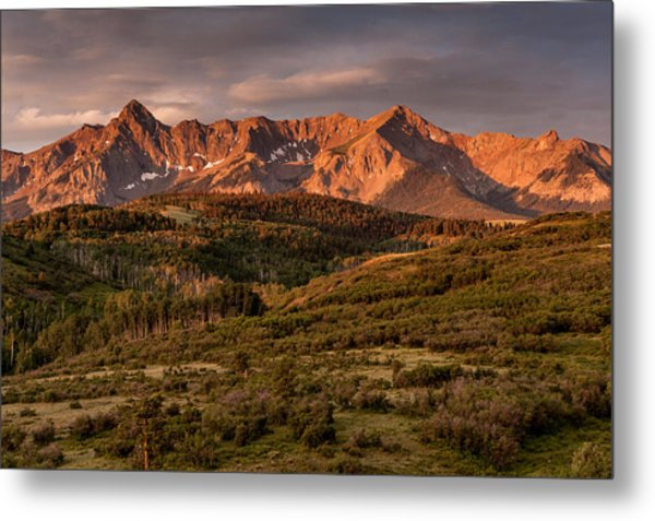 Sunrise At Dallas Divide Metal Print
