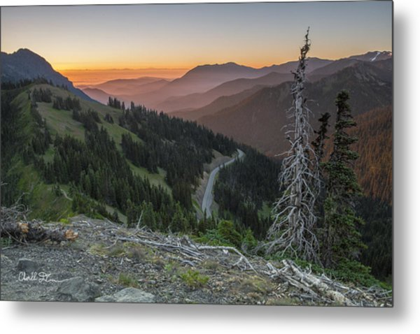 Sunrise At Hurricane Ridge - Sunrise Peak Metal Print