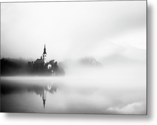 Sunrise At Lake Bled Metal Print