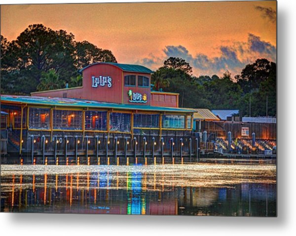 Sunrise At Lulu's Metal Print