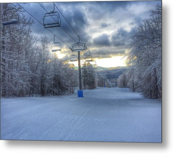 Sunrise At Okemo Mountain Metal Print