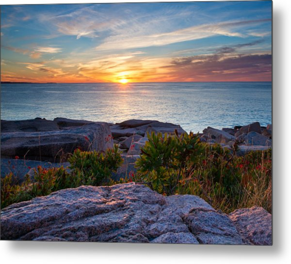 Sunrise At Otter Cliffs Metal Print