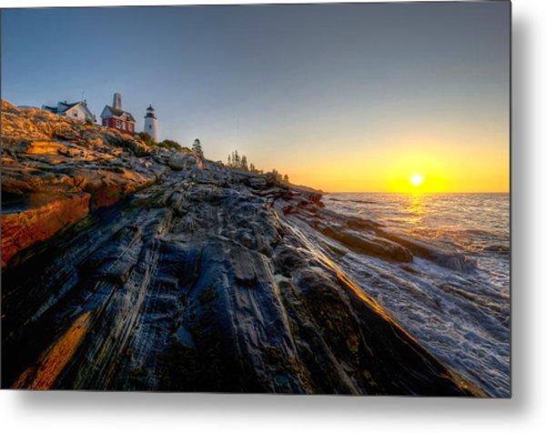 Sunrise At Pemaquid Point Metal Print