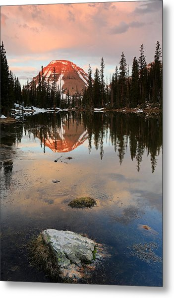 Sunrise At Picturesque Lake. Metal Print