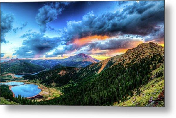 Sunrise At Pikes Peak Metal Print