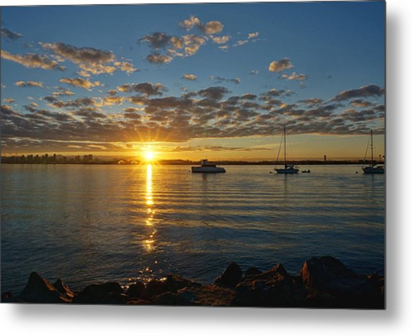 Sunrise At Shelter Island Metal Print