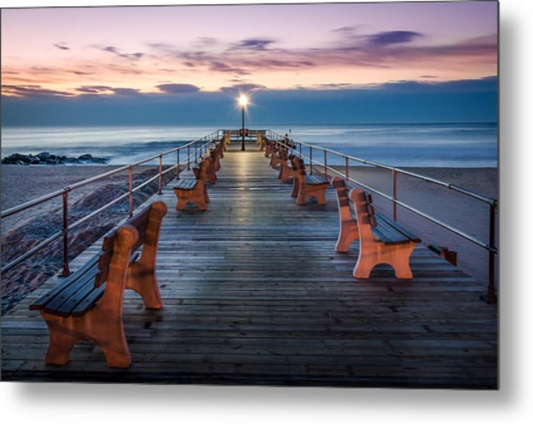 Sunrise At The Pier Metal Print by Steve Stanger