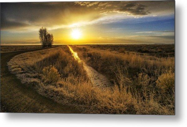 Sunrise At The Wildlife Refuge Metal Print by David Soldano
