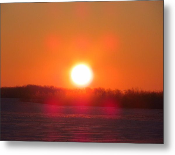Sunrise At Wroxton Metal Print