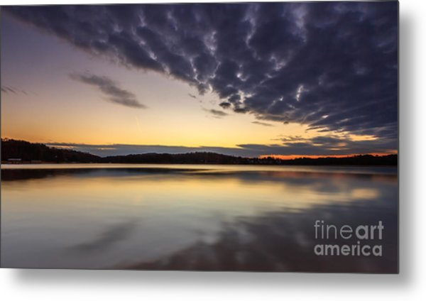 Sunrise On The Lake Metal Print
