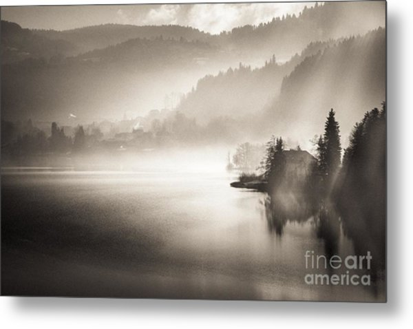 Sunrise By The Lake Metal Print