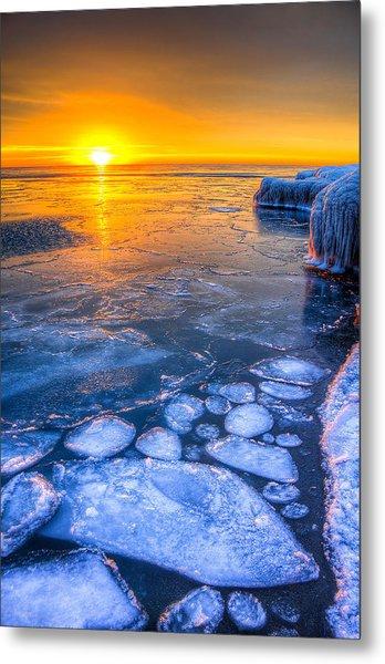Sunrise Chicago Lake Michigan 1-30-14 02 Metal Print by Michael  Bennett