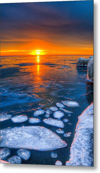 Sunrise Chicago Lake Michigan 1-30-14 04 Metal Print by Michael  Bennett