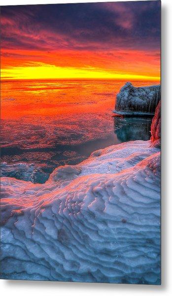 Sunrise Chicago Lake Michigan 1-30-14 Metal Print by Michael  Bennett