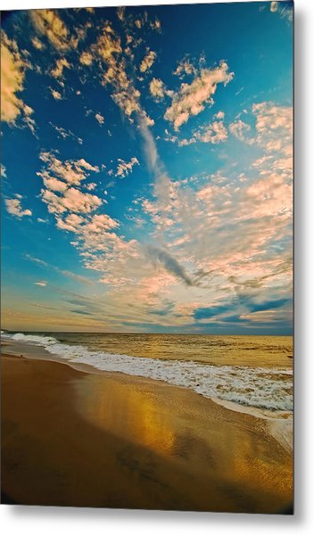Sunrise Coming At The Shore. Metal Print by Bill Jonscher
