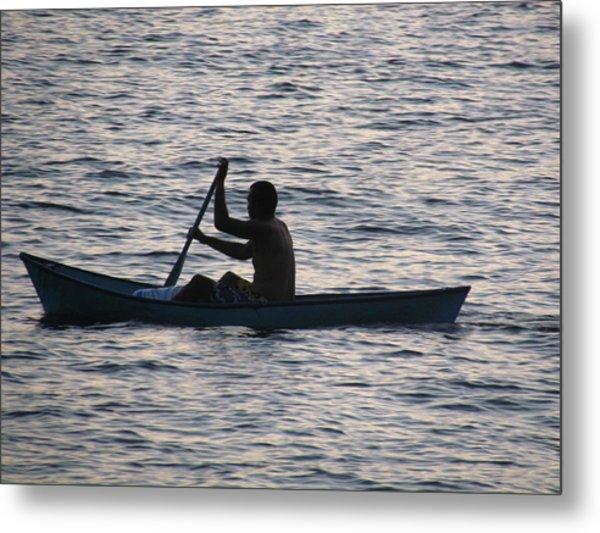 Sunrise Fisherman Metal Print