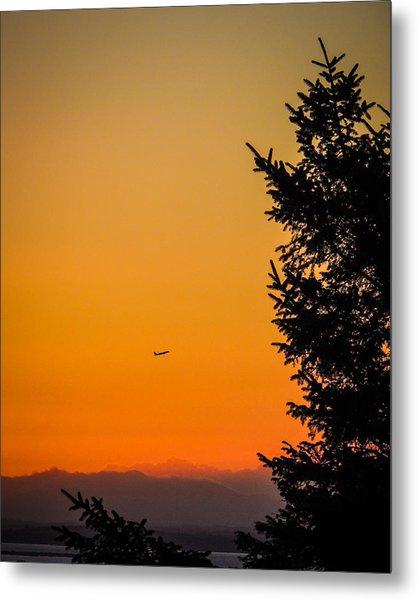 Sunrise Flight Departing Shannon Airport Metal Print