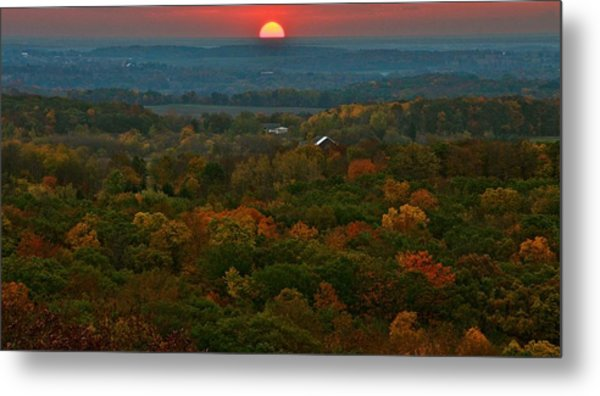 Sunrise From Atop Metal Print by Julie Franco