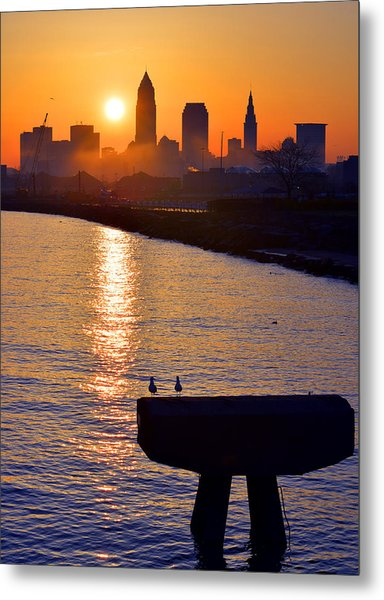 Sunrise From Edgewater Metal Print