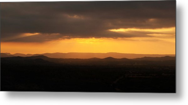 Sunrise From Enchanted Rock Metal Print