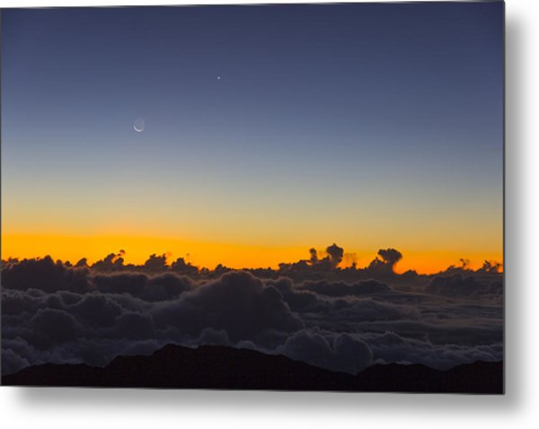 Sunrise Haleakala Volcano Metal Print by Norman Blume
