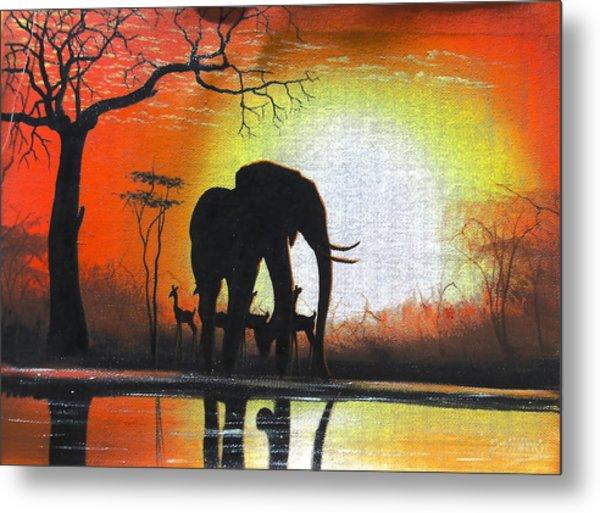 Sunrise In Africa Metal Print