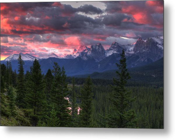 Sunrise In Banff Metal Print