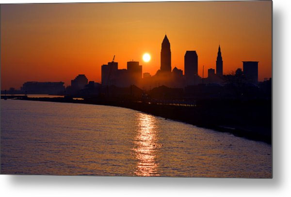 Sunrise In Cleveland Metal Print
