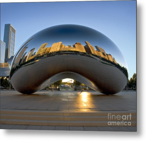 Sunrise In Cloudgate Metal Print