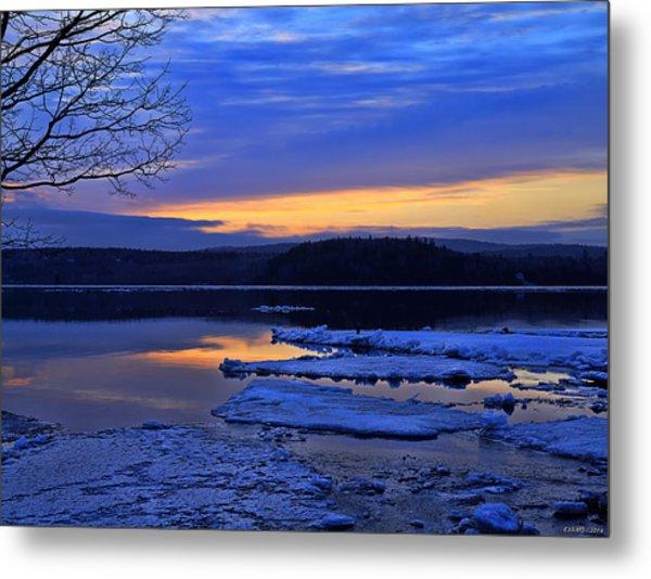 Sunrise In New Brunswick Metal Print