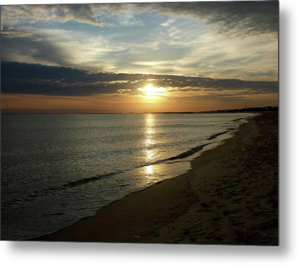Sunrise In Norfolk Va Metal Print