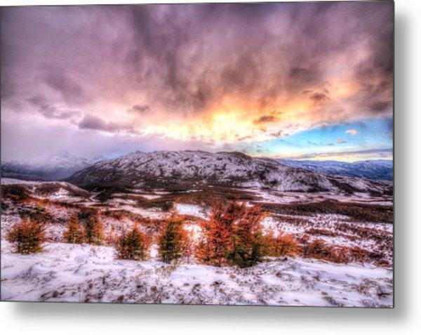 Sunrise In Patagonia Metal Print by Roman St