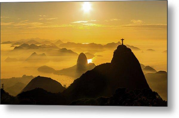 Sunrise In Rio De Janeiro Metal Print by Flavio Veloso