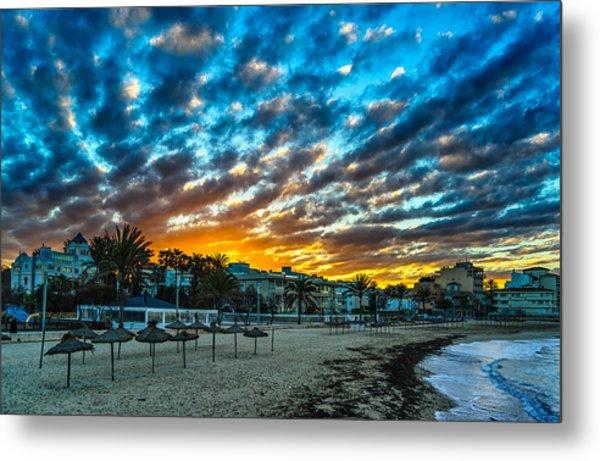 Sunrise In The Beach Metal Print by Maksims Novikovs