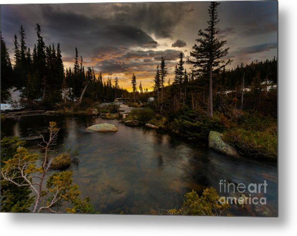 Sunrise In The Indian Peaks Metal Print