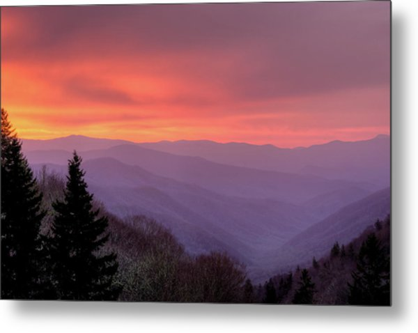 Sunrise In The Smoky Mountains Metal Print by Dennis Govoni