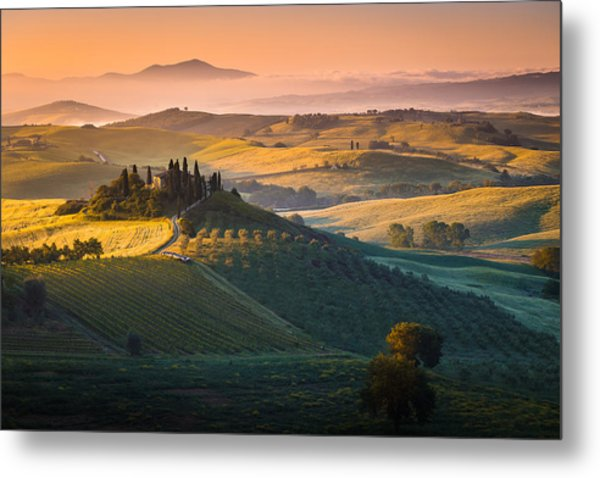 Sunrise In Tuscany Metal Print