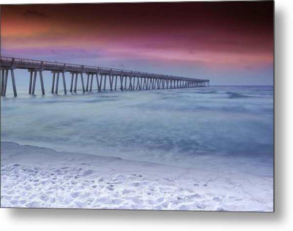 Sunrise In Winter Metal Print