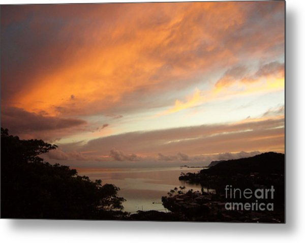 Sunrise Kaneohe Bay Metal Print