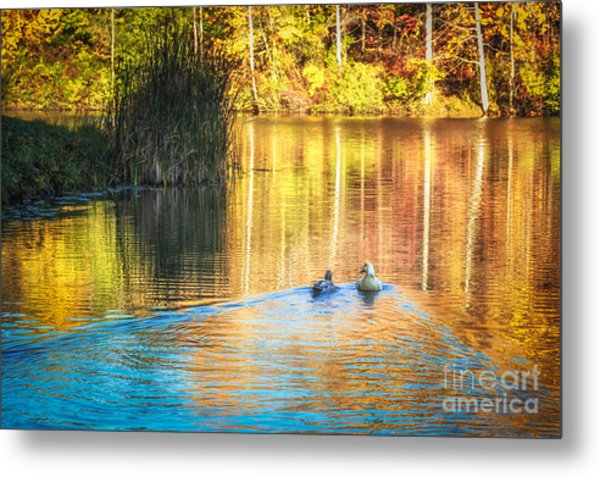 Sunrise Lake Rendezvous Metal Print