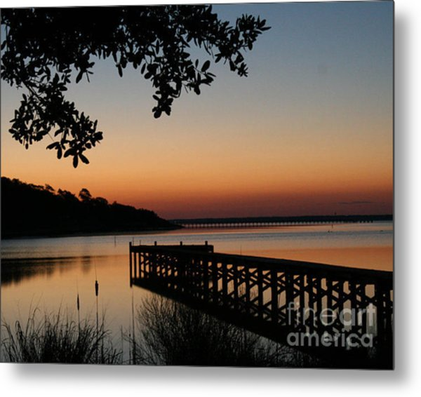 Sunrise On Bogue Sound Metal Print by Cari Gesch