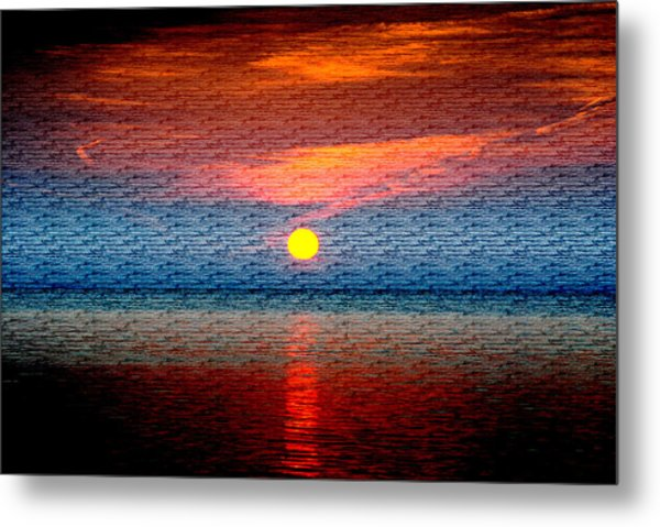 Sunrise On Brushed Metal Metal Print