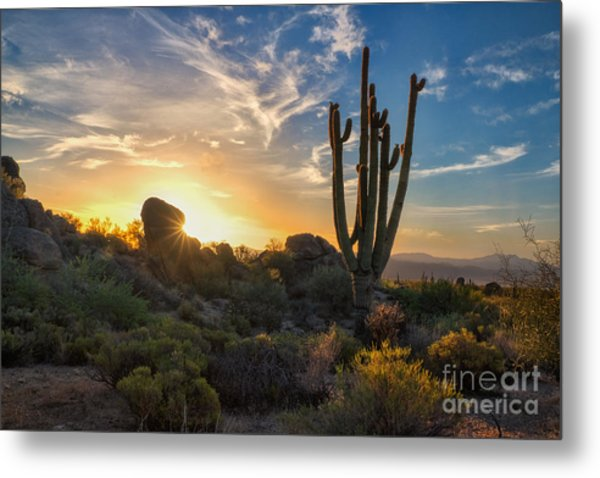 Sunrise On Granite Mountain Metal Print
