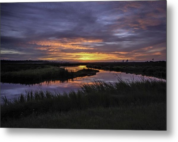 Sunrise On Lake Shelby Metal Print