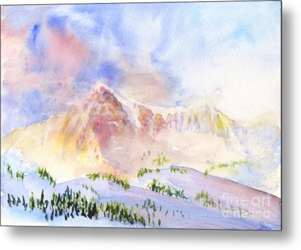 Sunrise On Mount Ogden Metal Print