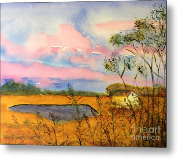 Sunrise On Patcong Creek Metal Print