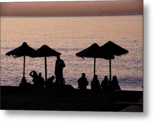 Sunrise On The Beach After A Night Out Metal Print