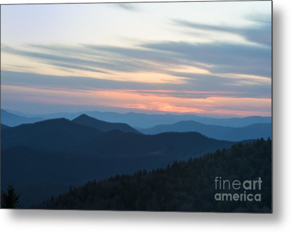 Sunrise On The Blue Ridge Metal Print