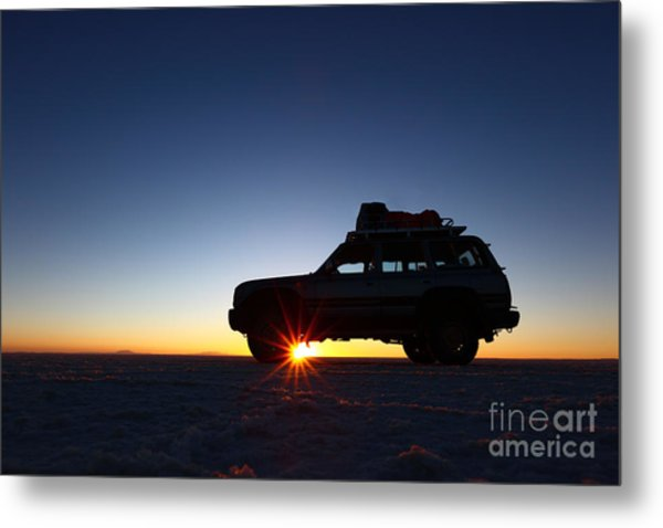 Sunrise On The Salar De Uyuni Metal Print