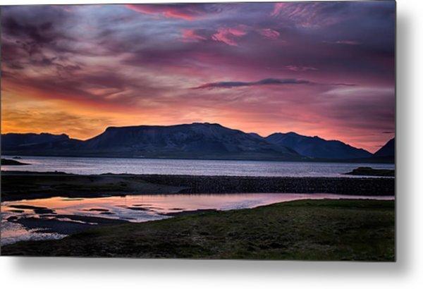 Sunrise On The Snaefellsnes Peninsula In Iceland Metal Print